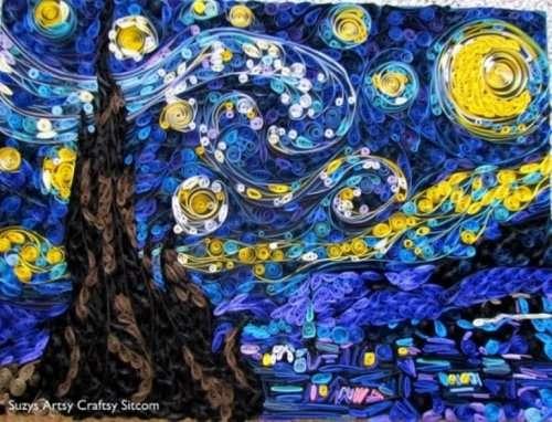 Картина Ван Гога в необычном исполнении