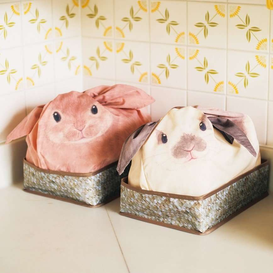 Забавные мешочки для вещей в виде кроликов