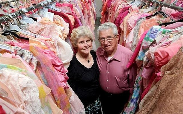 55 тысяч платьев за 56 лет брака